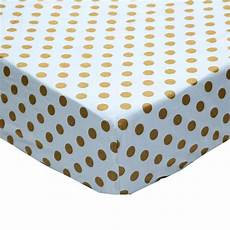 fitted crib sheet metallic gold polka dots and boutique