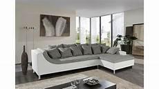Weiß Graues Sofa - ecksofa montego sofa ottomane wei 223 grau mit 6 r 252 ckenkissen