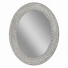 deco mirror 23 in x 29 in opal mosaic oval mirror 8179