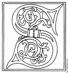 clipart initial letter s from late 15th century printed book