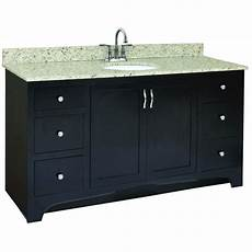 Espresso Bathroom Vanity Home Depot by Design House Ventura 60 In W X 21 In D Vanity Cabinet
