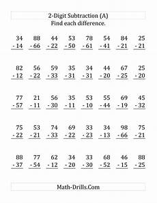 subtraction worksheets no borrowing 10015 2 digit subtraction with no regrouping lp