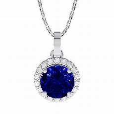 eternity 0 5ct sapphire halo platinum plated silver
