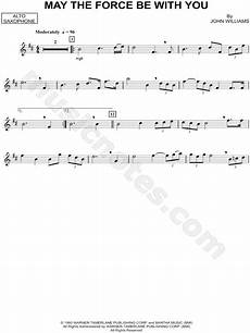 quot may the force be with you alto sax quot from star wars sheet music alto saxophone solo in b