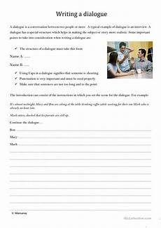 dialogue writing worksheets for grade 5 22945 writing a dialogue worksheet free esl printable worksheets made by teachers