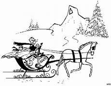 pferd mit schlitten ausmalbild malvorlage gemischt