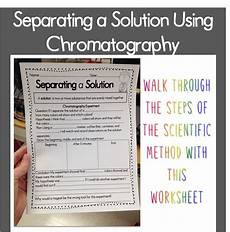 worksheets on paper chromatography 15701 technology teaching resources with washburn chromatography separating a solution