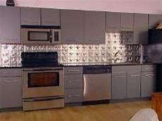 Tiles And Backsplash For Kitchens How To Create A Tin Tile Backsplash Hgtv