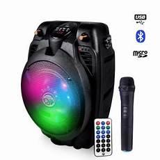 enceinte bluetooth karaoke enceinte karaoke sur batterie 6 5 quot 200w 224 leds rvb usb bluetooth micro sans fil enceintes