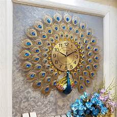 Large Wall Clock Luxury Peacock Metal by Large Wall Clock Modern Design Luxury Peacock Metal