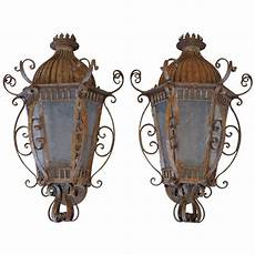 wrought iron outdoor wall sconces at 1stdibs