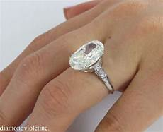 5 67ct estate vintage oval diamond engagement wedding ring
