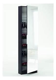 scarpiera con specchio 50x20x180 5 h cm