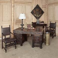 antique home office furniture vintage gothic oak desk inessa stewart s antiques