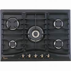 piano cottura nero piano cottura 5 fuochi nero antracite whirlpool griglie in