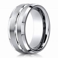 designer men s 950 platinum wedding band polished center cut 6mm