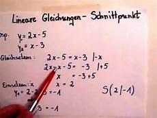 lineare funktionen schnittpunkt berechnen