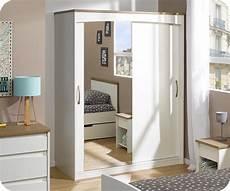 Armoire Enfant Island Blanche 2 Portes Avec Miroir