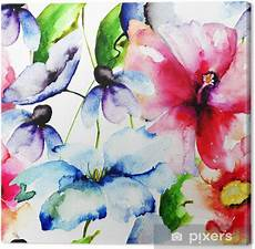 fiori in pittura quadro su tela bellissimi fiori pittura ad acquerello