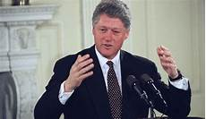 president bill clinton speaking to business leaders at the white house in washington jan 17