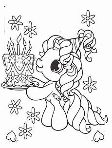 Malvorlagen Unicorn Cake Pony Brought A Birthday Cake Coloring Pages My