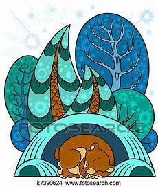 clipart inverno clipart of winter forest k7390624 search clip