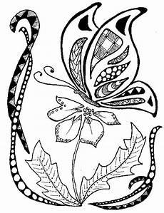 Ausmalbilder Schmetterling Auf Blume Ausmalen Als Anti Stress Schmetterlinge Schmetterling