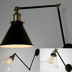 new l industrial loft swing arm wall sconce retro bedroom fixture lighting ebay