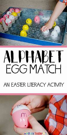 abc easter egg match literacy activities abc activities