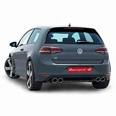 performance sport exhaust for vw golf vii r models with