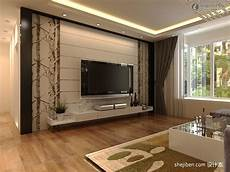 Modern Rendering Of Tv Background Wall Decoration 12 24