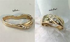wedding ring that fell in the garbage disposal is restored