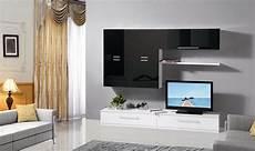 pareti attrezzate per soggiorno mobile soggiorno parete attrezzata mdf bianco e nero l