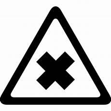 panneau triangle croix signal de la rue de la circulation d une croix dans le triangle t 233 l 233 charger icons gratuitement