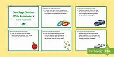ks2 one step division with remainders word problems maths