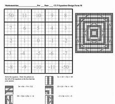 solving equations with combining like terms line design puzzle worksheet