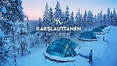 Iglu Hotel Finnland - official kakslauttanen arctic resort in wintertime