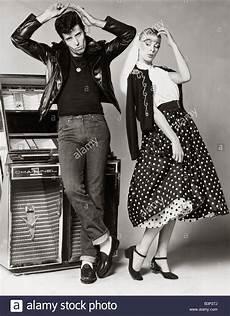 models posing wearing fifties style fashion wearing