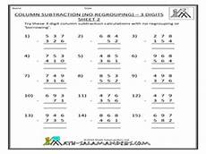 softschools subtraction with regrouping worksheets 10711 column subtraction of 3 digits no regrouping worksheet for 2nd 4th grade lesson planet