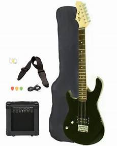 Left Handed Beginner Black Electric Guitar Package With