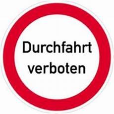 schild verbotsschild durchfahrt verboten 40cm 216 alu
