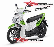 Variasi Warna Motor Beat by Foto Modifikasi Motor Beat Warna Putih Terkeren Dan