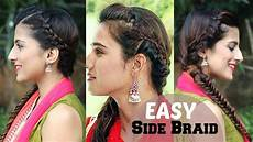 braided indian hairstyles 5 minute easy side braided indian hairstyle fishtail