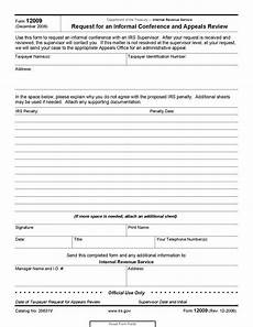 form 12009 request for an informal conference and appeals review