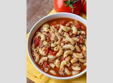 easy hamburger macaroni soup recipe