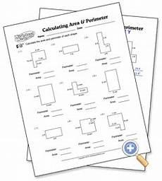 calculating area perimeter worksheetworks com english work matem