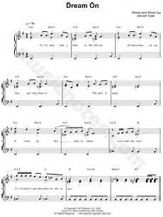aerosmith quot dream on quot sheet music easy piano in e minor download print sku mn0100051