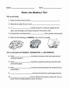 rocks minerals test and study guide 4th grade science by wendy wakefield