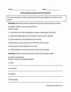 grammar mechanics worksheets compound words worksheets