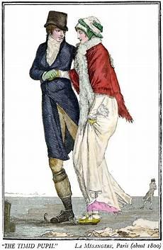 regency skating fashion plate dated c 1800